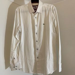 👔2/$80 LACOSTE White Dress Shirt